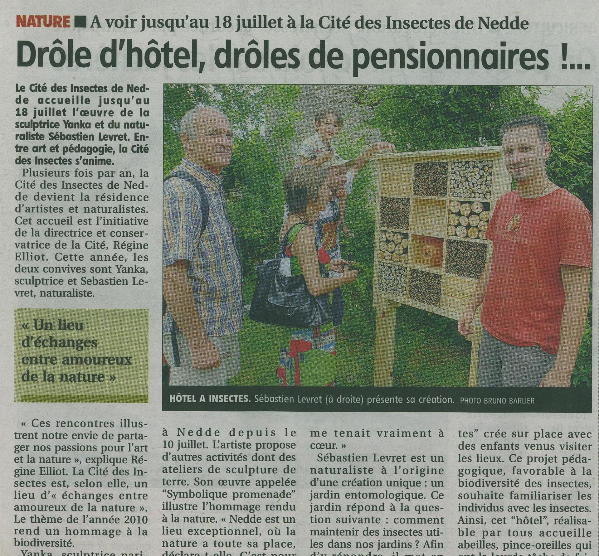Article cite des insectes